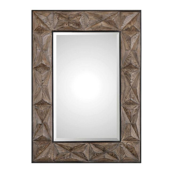 Uttermost Wilder Aged Wood Mirror