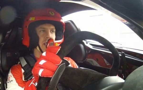Monkey Motor: Sebastian Vettel se subió a bordo de la Ferrari FX...