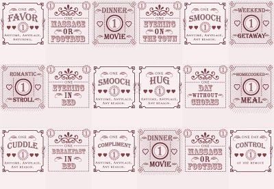 Romantic Valentine's Day Ideas Boyfriend   Benign Objects: Love Coupon Matchbooks: A DIY/printable project