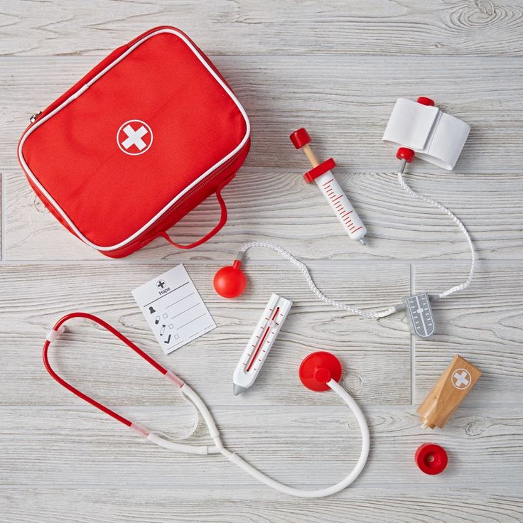 Shop Doctor Play Set.  Our Doctor Play Set is filled to the brim with all the essentials a young doctor needs.  The case includes a stethoscope, thermometer and more.  We have a feeling they