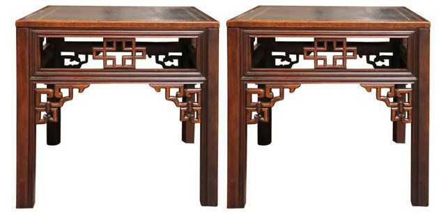 Baker Chinoiserie Cocktail Tables Pair Furniture Board