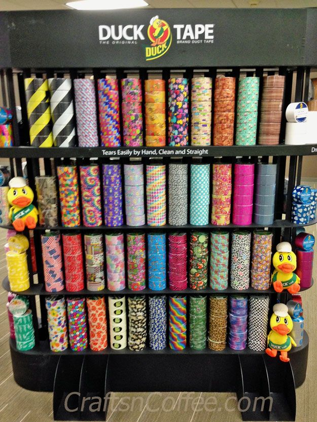 ShurTech has 250 patterns and designs of Duck Tape. CraftsnCoffee.com