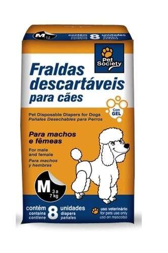 fralda descartável p/ cães de 3 a 7 kilos. super absorvente
