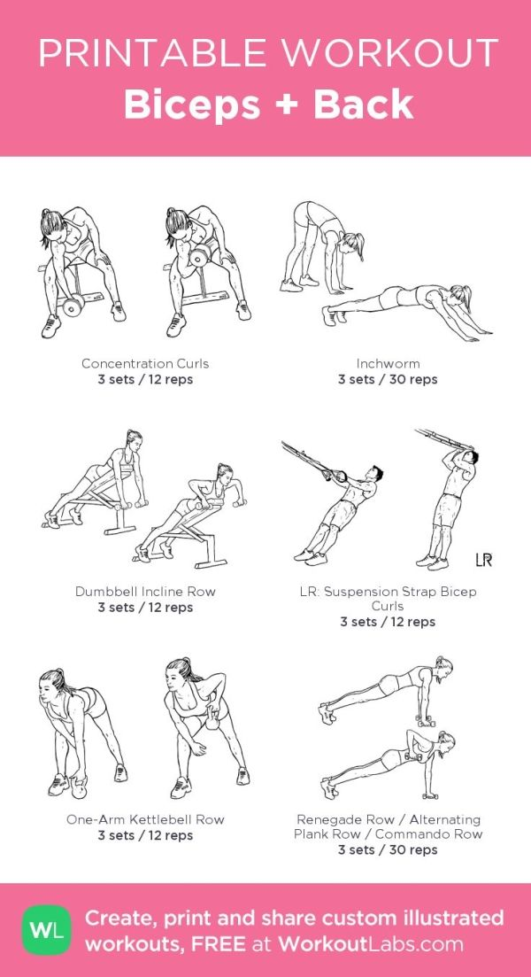 Biceps + Back: my custom printable workout by @WorkoutLabs #workoutlabs #customw… – strong