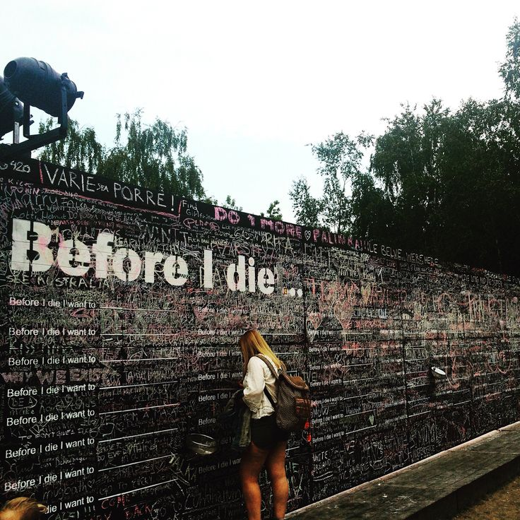 Before I die.. Wall at #sziget2015