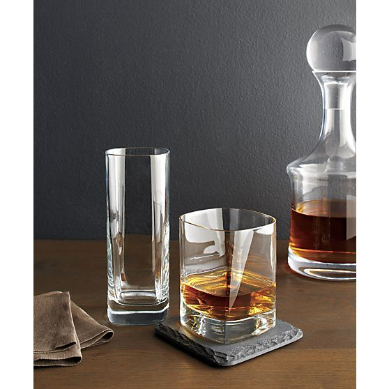 Strauss Double Old-Fashioned Glass in Barware & Glassware | Crate and Barrel