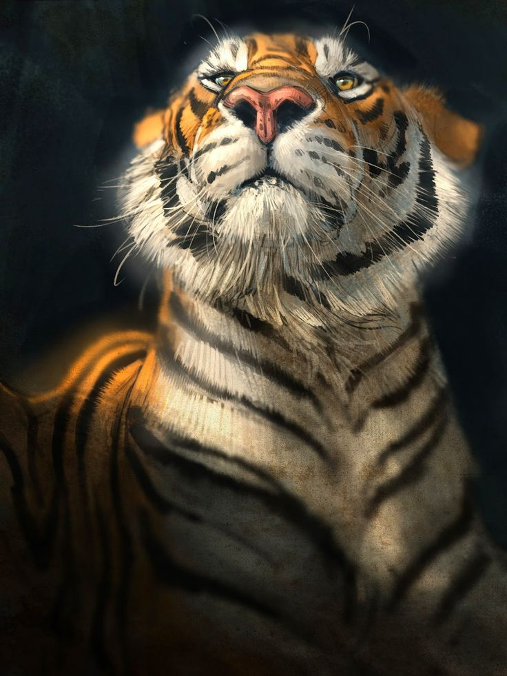 Aaron Blaise - Here's a Photoshop painting done last night.