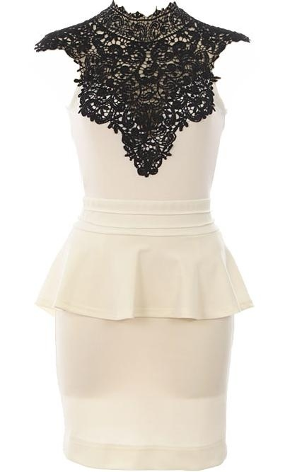 white dress black lace