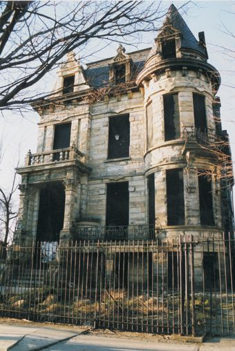 Franklin Castle - 4308 Franklin Boulevard in Cleveland, Ohio - It is rumored to have been owned by a man who systematically slaughtered his entire family. It has too many mysterious occurences to not be haunted. Check out the link for all the gruesome details.