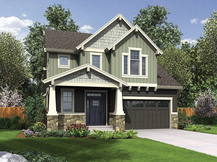 Bungalow Home Plan with 2128 Square Feet and 4 Bedrooms from Dream Home Source | House Plan Code DHSW077553