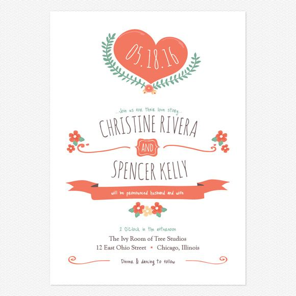 Live and Love Wedding Invitations www.lovevsdesign.com