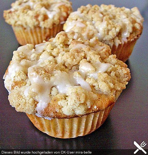 Marzipan-Apfel-Muffins mit Zimtstreuseln #rezept