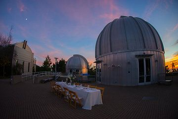 Small intimate dinners to big sunset cocktail hours on the Observatory Deck at Chabot Space & Science Center   by Mira Zaslove Photography