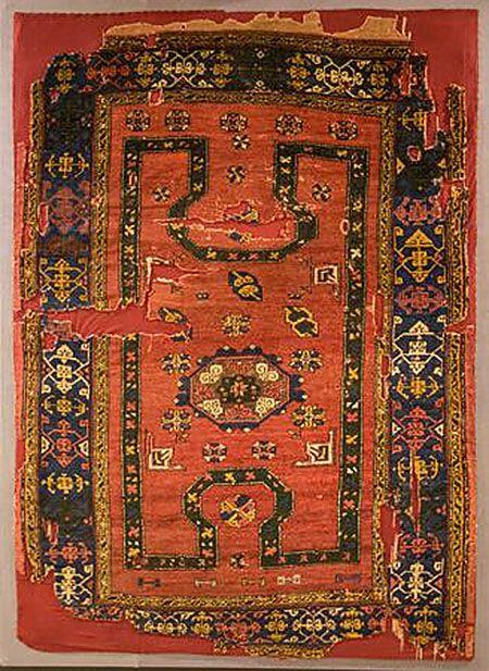 OTTOMAN CARPETS IN THE XVI - XVII CENTURIES (16-17TH CENTURIES)  'Bellini' re-entrant carpet, XVI-XVII century, TIEM