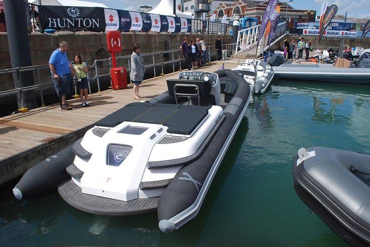 Custom Rib X tender in carbon flexiteek teak decking