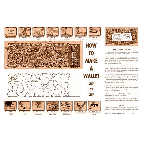 Leathercraft библиотека - Как сделать кошелек с помощью Craftool (Серия 8 Page 2)
