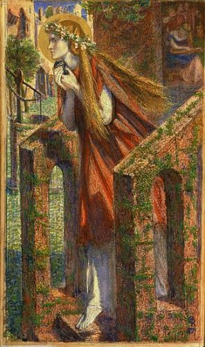 Mary Magdalene Leaving the House of Feasting (1857) D G Rossetti