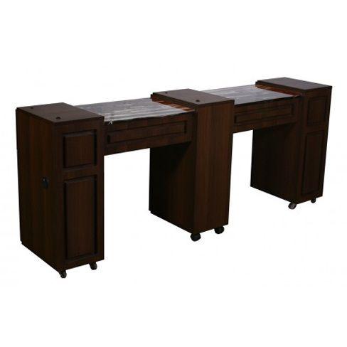 Canterbury Manicure Table Chocolate C - $509 ,  https://www.ebuynails.com/shop/canterbury-manicure-table-chocolate-c/ #furniture #spasalon #spafurniture #nailtable #salonfurniture #nailsalon