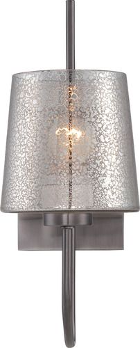 'Meridian One Light Wall Sconce - Black Chrome Finish with Mercury Glass by Varaluz. @2Modern'