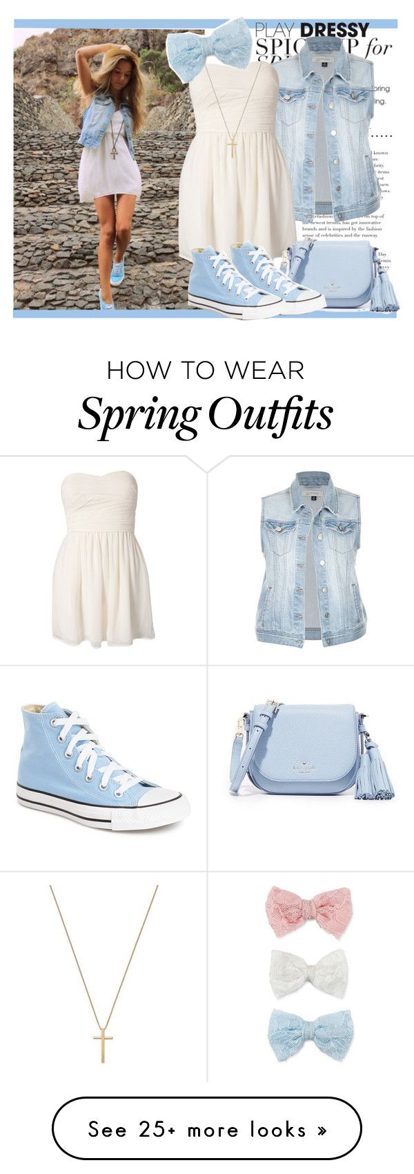 """""""#93 Spring To Summer"""" by charlotte-sk on Polyvore featuring Rare London, Kate Spade, Converse, Gucci and Decree"""