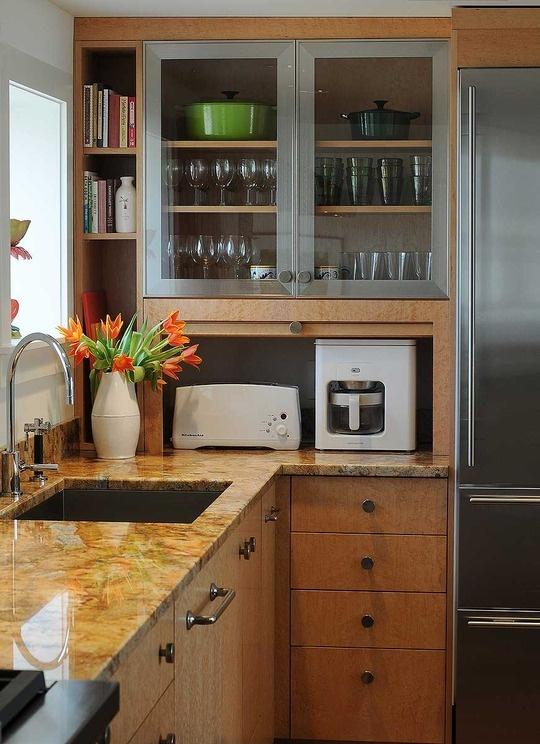 Appliance garage | Kitchen Ideas | Pinterest