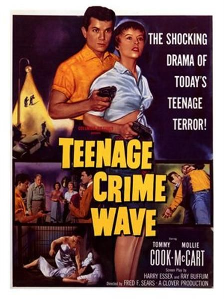 1950 movie posters posters teenage crimewave 1950s movie poster movie poster 1950s. Black Bedroom Furniture Sets. Home Design Ideas