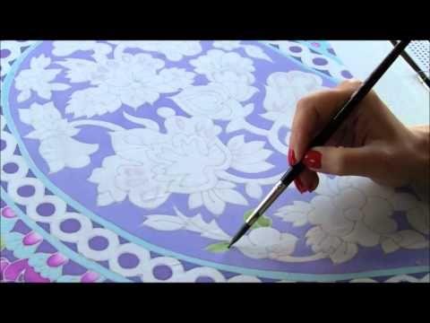 ▶ Silk painting 1 - YouTube