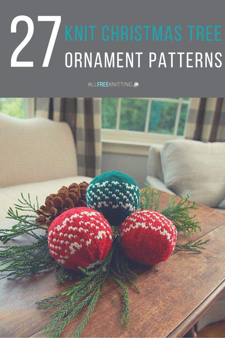 Strawberry christmas ornaments - 27 Knit Christmas Tree Ornament Patterns