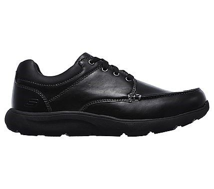 Skechers Men's Montego Dosen Relaxed Fit Memory Foam Shoes (Black)