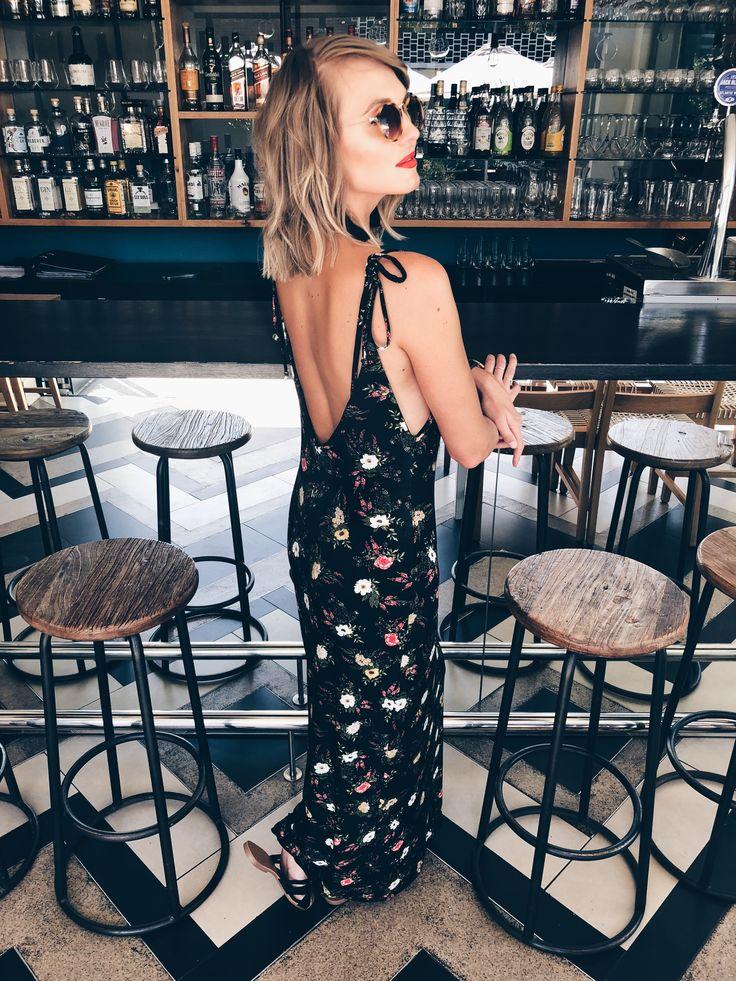Open back floral dress - The Demi