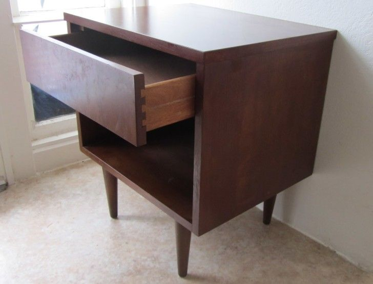 Furniture. short brown wooden end table with brown wooden shelf and sliding single drawer on ceramics flooring. Outstanding Ideas Of Cool End Tables To Inspire You