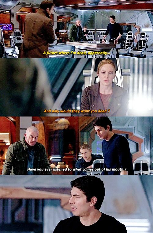 """Why would they want you dead?"" - Sara, Ray, Mick, Leonard and Rip #LegendsOfTomorrow"