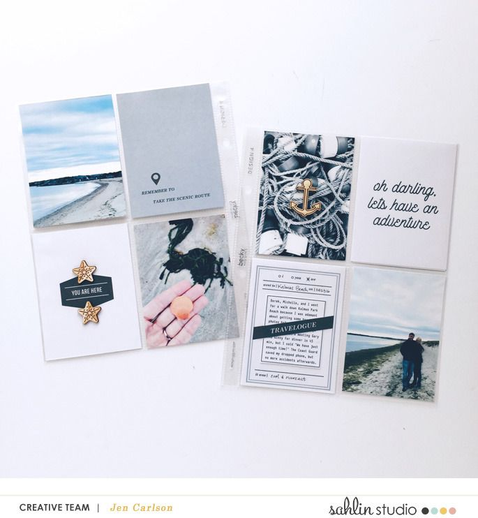 Project Life / Digital Scrapbooking layout using Life is an Adventure (Journal Cards and Word Art) collection by Sahlin Studio