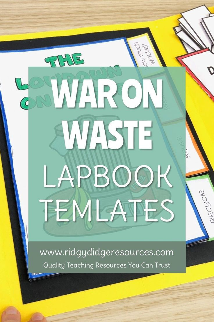 War on Waste Sustainability Lapbook Activities and Unit Plan