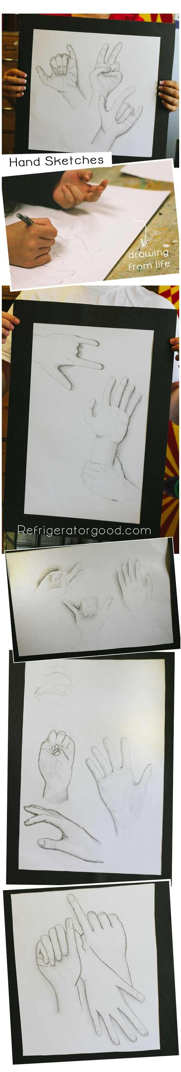 High School Art lesson: Hand Drawings // Art I