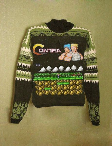 I see your fair isle sweater and I raise you a Contra fair isle sweater.