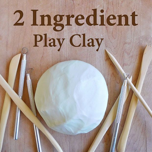 Hair Conditioner and Corn Starch make Play Clay that can be played with 2-3 times and/or can be hardened.