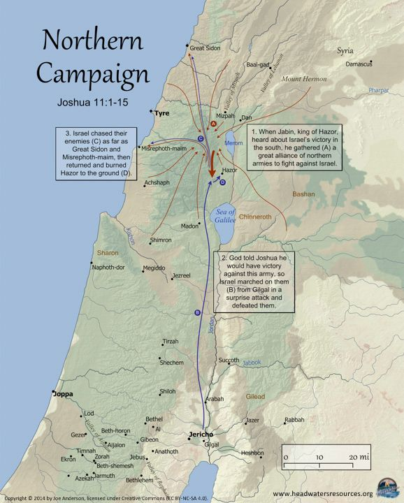 Images Map Conquest Of Canaan The Northern Campaign