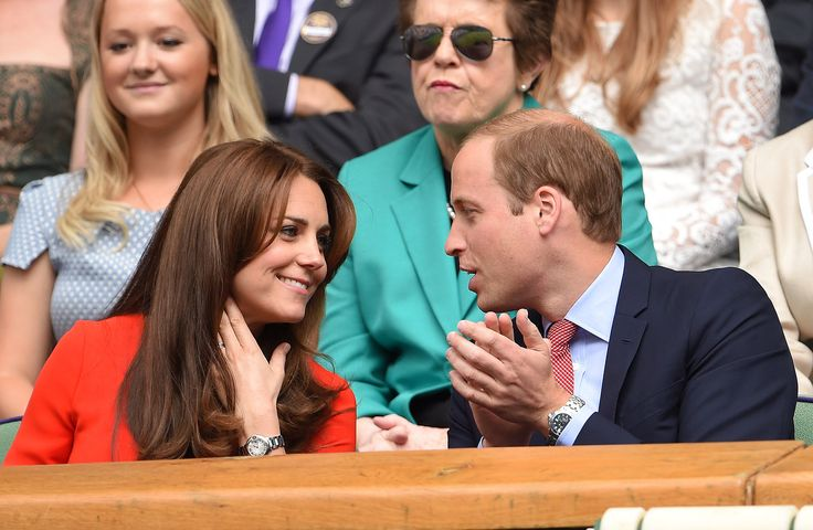 July 8, 2015 - William and Kate Look Like 2 Teenagers in Love During Adorable Wimbledon Date