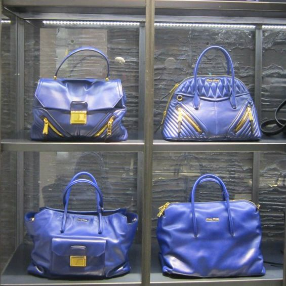 Blue bags by @MiuMiu #MiuMiu #leather #bag #FolliFollie #FW14collection