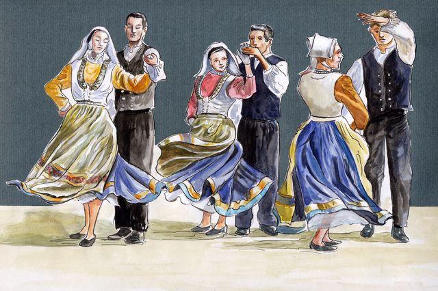 danse irlandaise illustration | Les Photos Danse bretonne - danses sur ExRueFrontenac.com