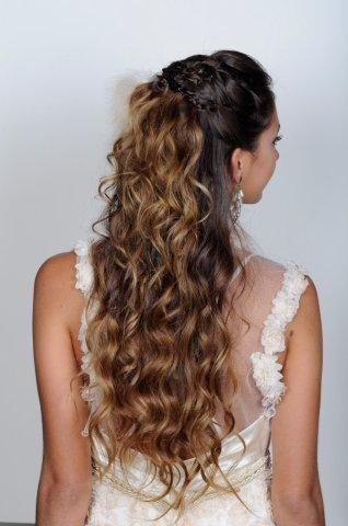 hair / peinado recogido - suelto / cabello ondulado