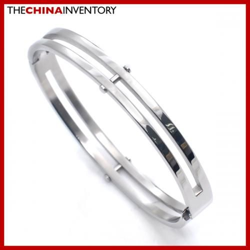 NEW BOYS 8MM STAINLESS STEEL BANGLE DUAL RING B2716A