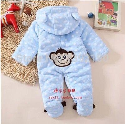 Modelos del invierno del bebé ropa bebé mono mameluco del bebé recién nacido otoño y el invierno ropa gruesa acolchada de la ropa exterior(China (Mainland))