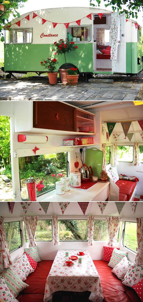 Constance the Caravan is written up in a book I have and I adore her - I love the fact that she was a cubby for kids but the parents have afternoon tea in her too!!
