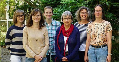 Die Forschungsgruppe: Jolanta Klimek, Emina Wild, Ursula Bonifas, Dr. Birgit Kegel, Dr. Beate Krämer, Dr. Heike Behrensdorf-Nicol (v.l.)