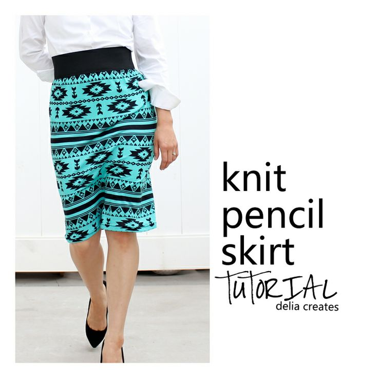 Delia Creates: Knit Pencil Skirt Tutorial - Two Versions. Love the tribal print! http://www.girlcharlee.com/azure-navajo-tribal-cotton-jersey-blend-knit-fabric/famous-designer-p-7093.html
