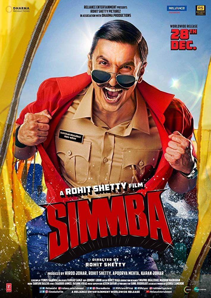 Simmba 2018 Hindi Desi Pdvdrip X264 Ac3 Movie Info Imdb 3 2 10 Movie Simmba 2018 Dir Rohit Shetty Bollywood Movie 2018 Movies