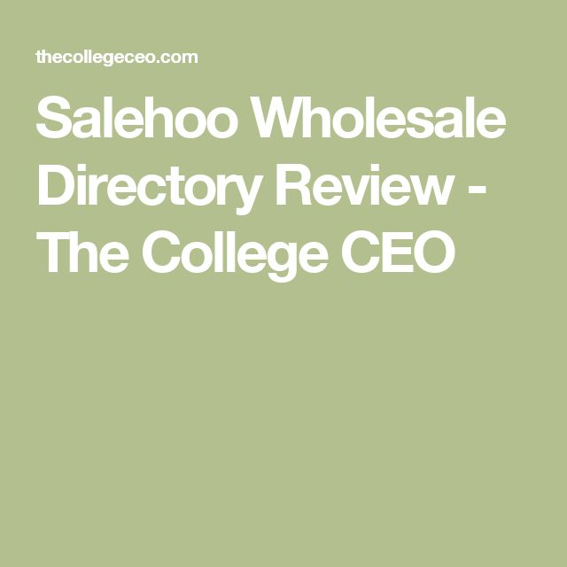 Salehoo Wholesale Directory Review - The College CEO