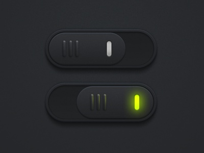 nice #skeuomorph #mobile #ui #design • Switch Black by SanityD via Dribbble.com